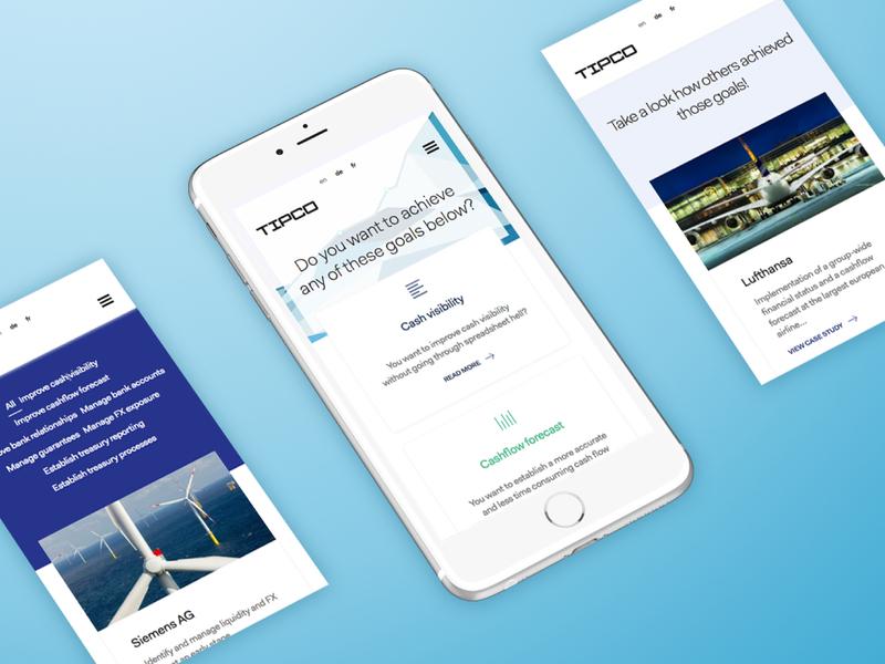Tipco Treasury & Technology GMBH finance website finance business web design web user interface design user experience design design ux ui