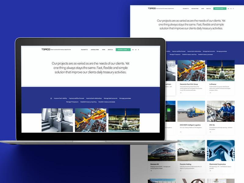 Tipco Case Studies Page web design finance website web user interface design user experience design design ui ux finance business finance business and finance business