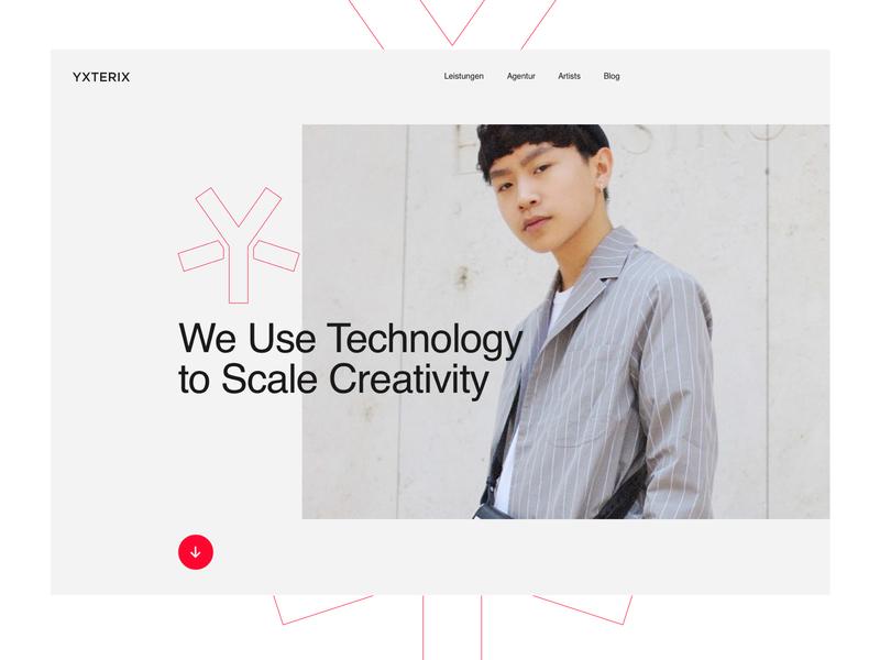Yxterix Website Redesign web design marketing agency web user interface design design ux ui