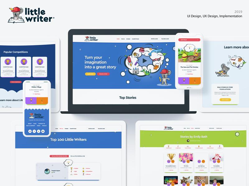 LittleWriter web app illustration web design user experience design web user interface design design ux ui