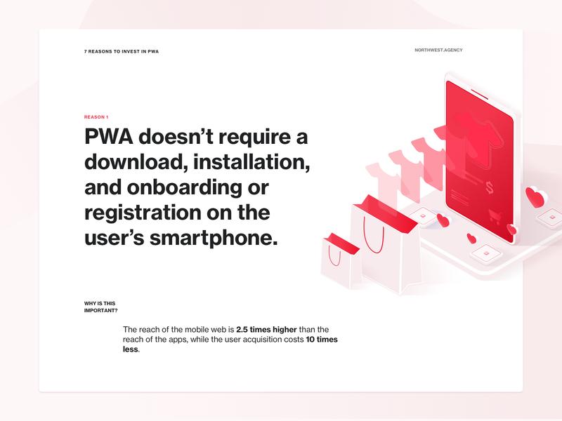 7 Reasons to invest in PWA - Reason 1 quotes quote web design app web app progressive web app pwa web design ux ui