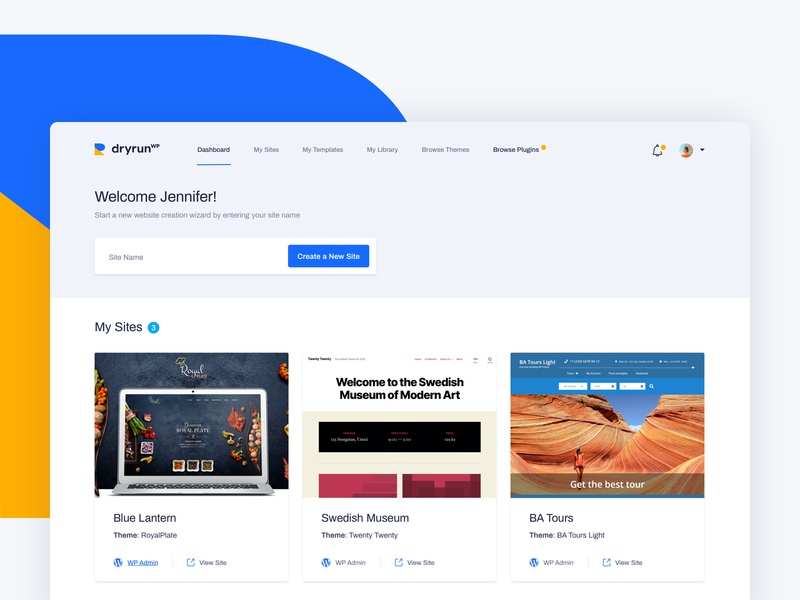 dryrun WP web app dashboard app user experience design user interface design web ux ui webdesign design dashboard design dashboard ui dashboard