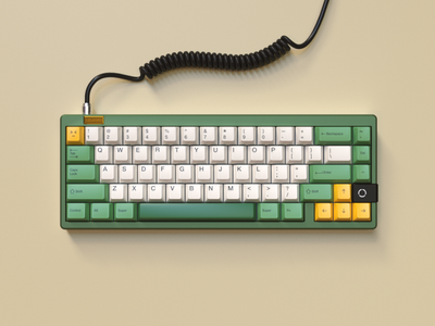Keyboard Design customized keycap c4d keyboard