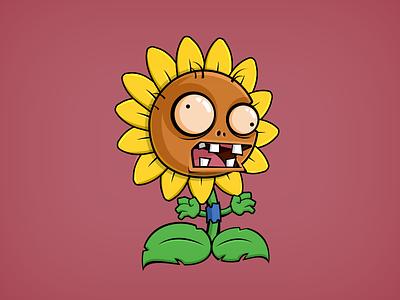 Plant Zombie sunflower plant zombie