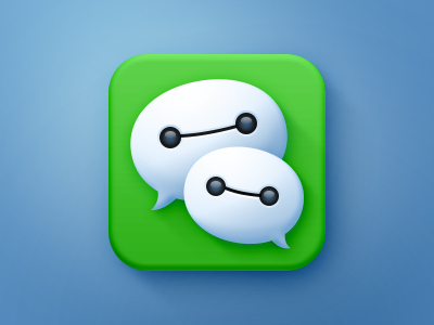 Wechat icon bubble chat baymax wechat icon