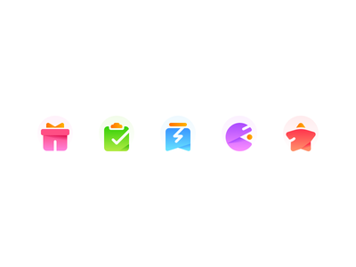 Icons gift recommend schedule game activity icons