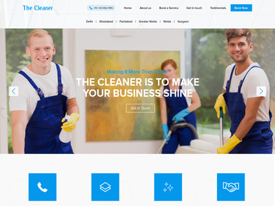 Mockup cleaning website