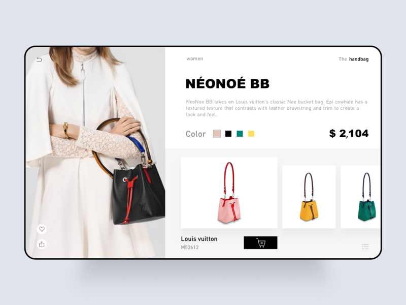 A product details page web design