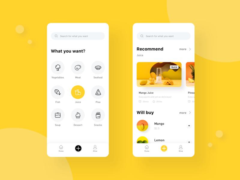 Cooking Recipe App 设计 design app