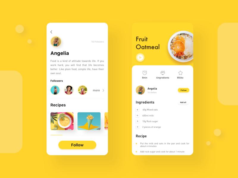 Cooking Recipe App ui app 设计 design