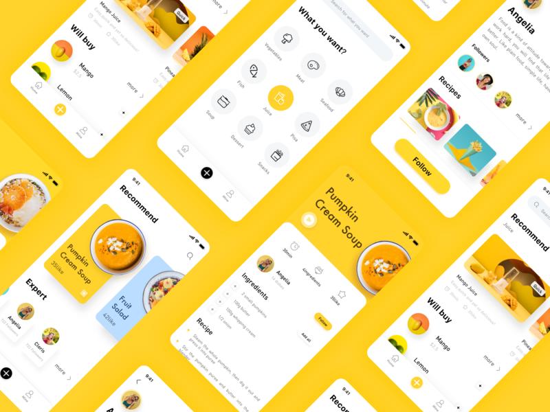 Cooking Recipe App app ui design