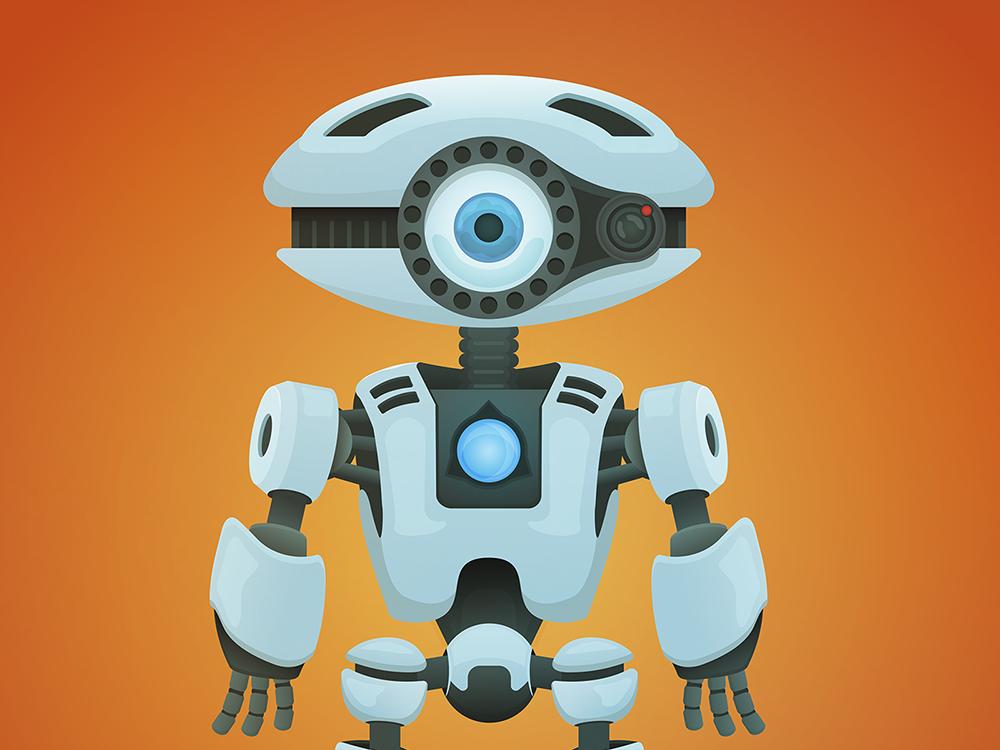 robot illustration design vector illustration