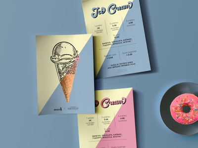 Ice Cream Menu typogaphy logo menu design print design graphicdesign icecream menudesign