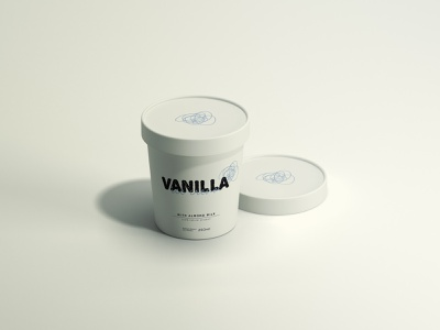 Vanilla ice cream packaging labeldesign packagedesign icecream branding graphicdesign design