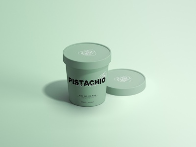 Pistachio ice cream packaging packagedesign labeldesign branding icecream graphicdesign design