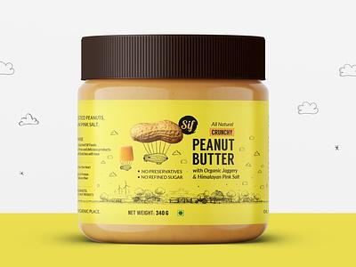 Sif Foods - Label Design food packaging design peanut butter packaging design peanut butter label design peanut butter