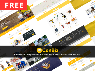 Free bootstrap construction business template by mohammad musharrof free bootstrap construction business template wajeb Gallery