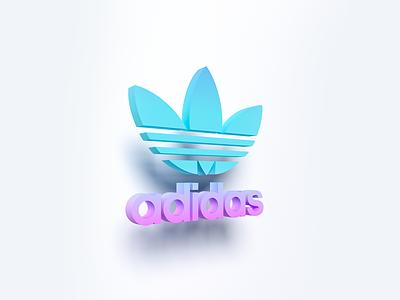 3D Logo of «ADIDAS» 3dvisualization 3dlogo logos adidas logodesigns art typography illustration web branding vector logo minimal design 3d art
