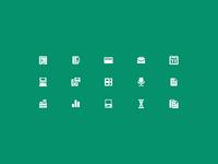 """Small icons for a """"Volga-Kamskiy Bank"""""""