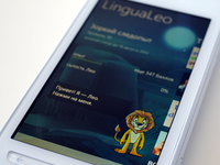 LinguaLeo app with our illustration (windows phone version)