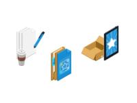 "Small illustrations for ""Mac Build Server"" website"