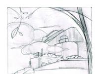 LinguaLeo Android app illustration sketch