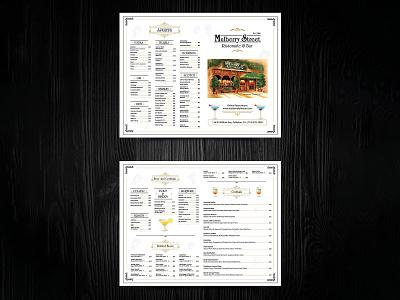 Mulberry Street Menu Card Design card branding bar logo restaraunt yummy menu menu design menu card menu bar menu design