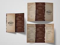 Connie's Restaurant Menu Card