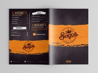 Sagos Restaurant Menu Card