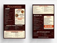 Rockwood Menu Card