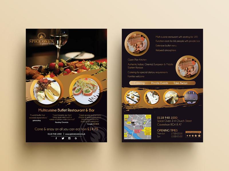 Multi Cuisine Buffet Restaurant Bar By Yummy Menus On Dribbble