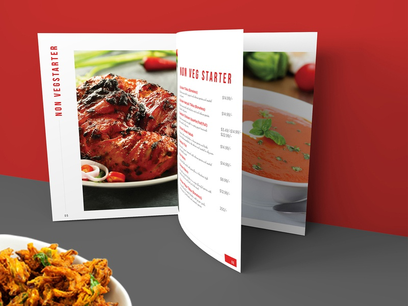 Non-Veg Starter Menu Card Design starter non-veg menu design yummy menu restaurant menu beverage meal cuisine vegetarian menu card menu bar menu restaraunt illustration graphics design branding