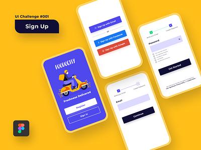 UI Challenge: Sign Up register sign up design visual uiux figma uiux design ux ui visual design ui design
