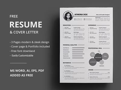 Free Resume resume clean resume cv free resume template free design free freebbble freebie cv template word cv resume template cv
