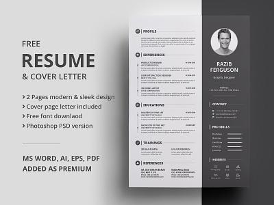 Freebie | Resume resume resume design cv template word freebie psd free freebbble cv cv resume template freebie free resume template free resume