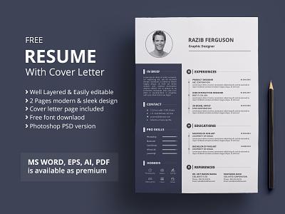 Resume | Freebie resume design free design resume cv cv template word resume cv freebbble freebie psd free resume template cv resume template