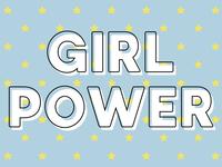 Girl Power Blue