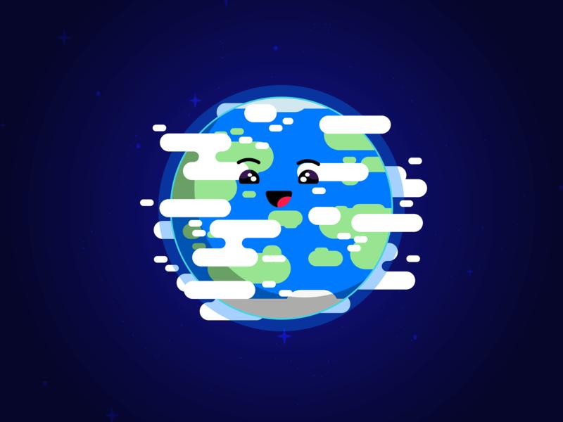 Earth Day vector art vector earth planet space earthday adobe illustrator cartoon digital art art illustration