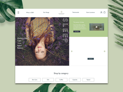 Interactive Homepage 🌿