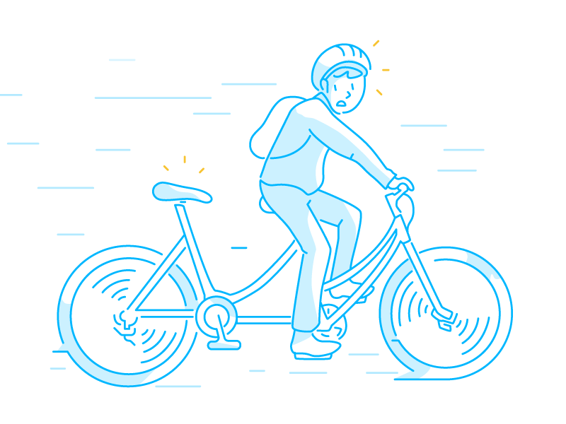 Looks like we lost you for a second... tech app cycling fun vector design illustration