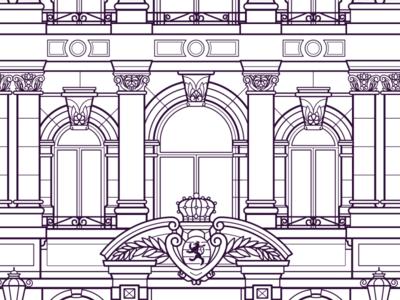 Mansfeld Luxembourg Process lineart luxembourg illustration vector design creative studio