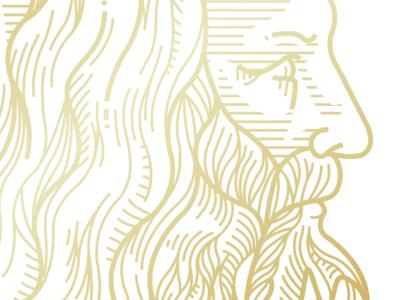 DaVinci Outline outline token crypto caracter branding design vector illustration creative studio