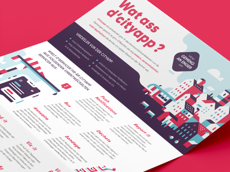 Flyer flat composition branding illustration vector design creative studio flyer