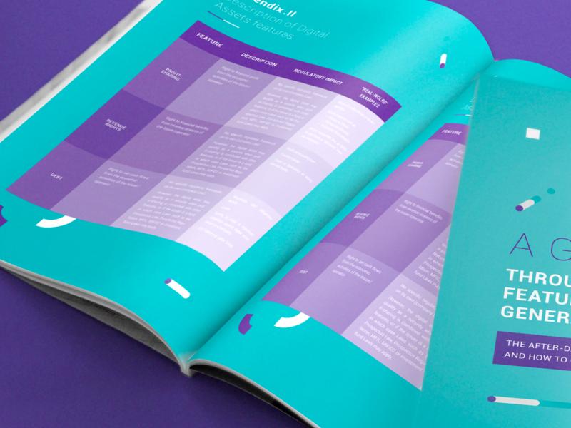 Whitepaper crypto editorial design branding vector design creative studio