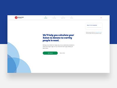 nzf.org.uk - Calculator app website ui web ux design