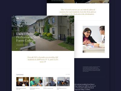 Oxford International College webdevelopment education website college school webdesign website