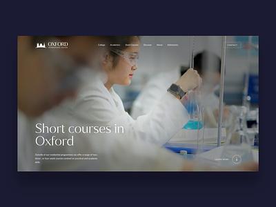 Oxford International College college education website school webdevelopment webdesign website