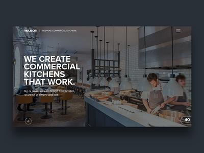 Nelson Commercial Kitchens typography design web web development interactive website web design