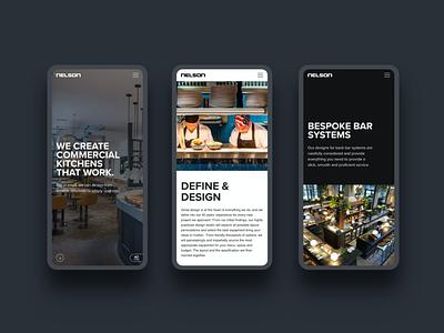 Nelson Commercial Kitchens web design typography mobile web development website design web design website