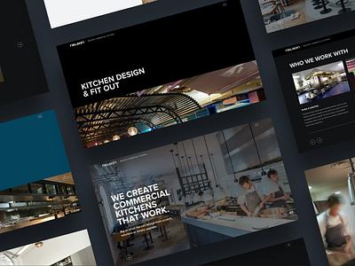 Nelson Commercial Kitchens wordpress responsive web development website design web design typography website web design
